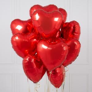 Сет из одиннадцати красных Сердец.