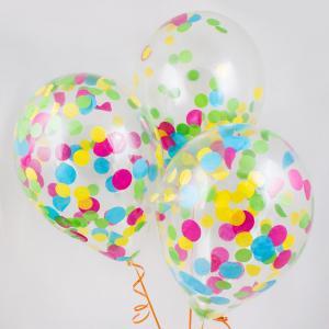 Воздушный шар конфетти цветные