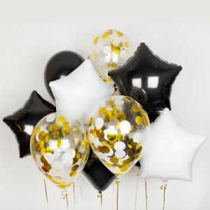 Сет из воздушных шаров конфетти Ночь День
