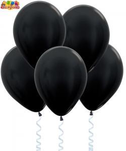 Воздушный шарик с гелием Метал  Черный.