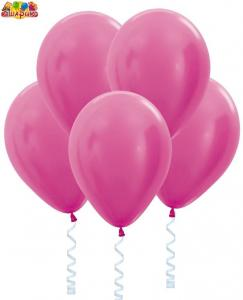 Воздушный шарик с гелием Перламутр  Фуксия.