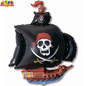 Воздушный шар с гелием  Пиратский корабль.