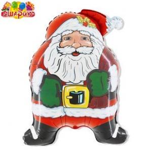 Воздушный шар с гелием  Дед Мороз.