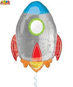 Воздушный шар с гелием  Ракета.