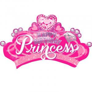 Воздушный шар с гелием  Корона принцессы с бриллиантами.