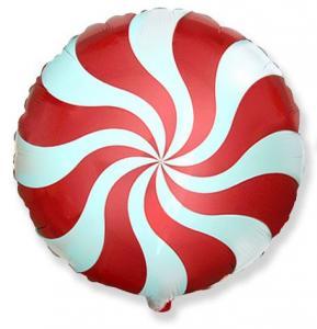 Воздушный шар c гелием Карамель красная.