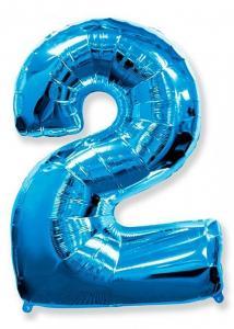 Воздушный шар c гелием Цифра синяя.