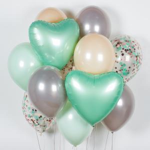 Букет из воздушных шаров Мятный.