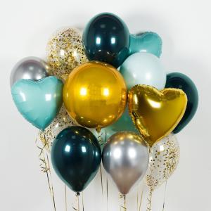 Букет из воздушных шаров Небесные сердца.