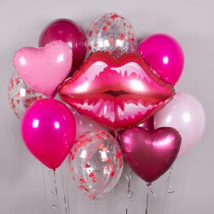 Букет из воздушных шаров Поцелуйчик.