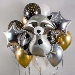 Букет из воздушных шаров Крошка Енот.