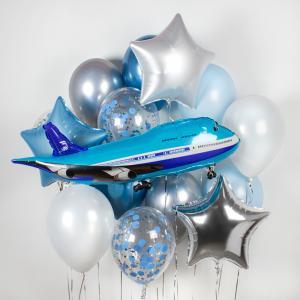 Букет из воздушных шаров Путешествие.