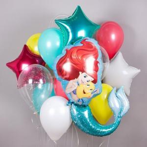 Букет из воздушных шаров Русалочка радужная.