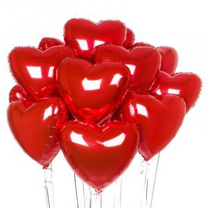Букет из воздушных шаров Сердца Красные.